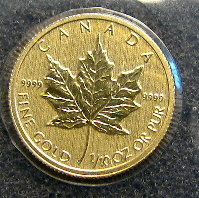 2014~~ Canada 1/10 Oz Gold Maple Leaf ,,,,BU Coin, Still Sealed in Wrapper