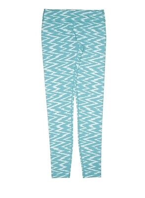 Ivivva Girls Activewear Workout Athletic Leggings Size 14 Blue White