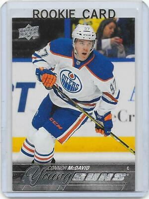 2015-16 UD Upper Deck hockey Connor McDavid Young Guns RC rookie card OILERS