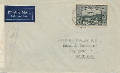 New Guinea: 1940: Air Mail to Brisbane, censor