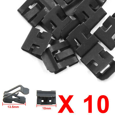 10pcs Car Console Retainers Dashboard Instrument Clip Fastener 10mm x 13.5mm