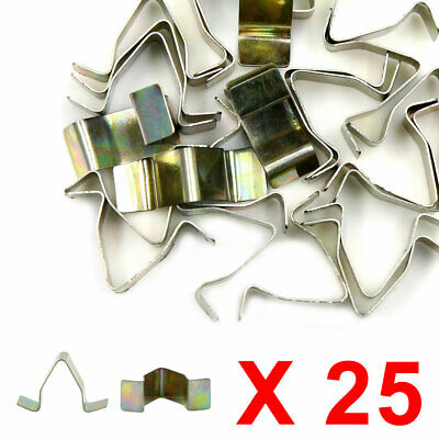 25pcs Universal Car Front Console Dash Dashboard Fastener Metal Retainer Clips