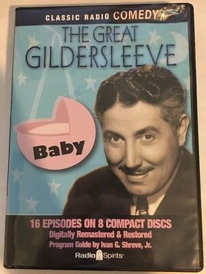 "Radio Spirits - THE GREAT GILDERSLEEVE ""BABY"" 16 Episodes, 8 Compact CD Discs"
