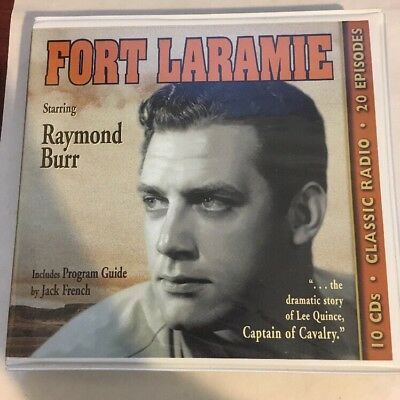 FORT LARAMIE (OLD TIME RADIO) Radio Spirits, Raymond Burr, 10 CD Set, RARE OOP