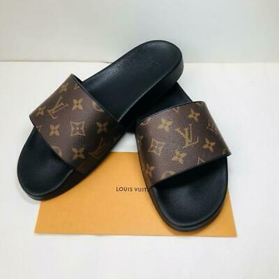 c9f7dfa405e3 Auth LOUIS VUITTON WATERFRONT MULE MONOGRAM FLIP FLOP SANDALS LV 11 US Japan