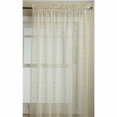 Lorraine Home Fashions Priscilla 60-inch X 84-inch Tailored Panel, Ivory
