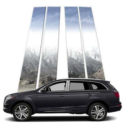 4p Stainless Pillar Post Covers fits 2007-2015 Audi Q7 by Brighter Design