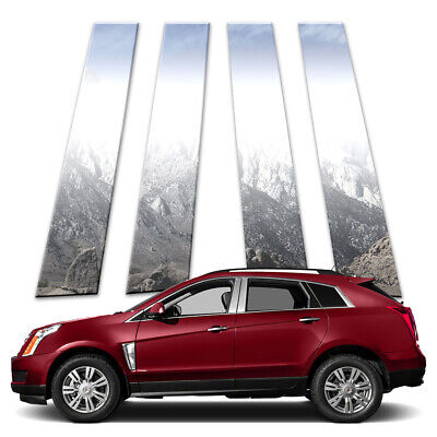 4p Stainless Pillar Post Covers fits 2010-2016 Cadillac SRX by Brighter Design