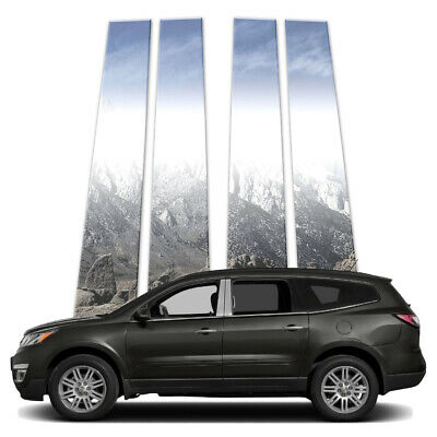 4p Stainless Pillar Post Covers fits 2009-2017 Chevy Traverse by Brighter Design