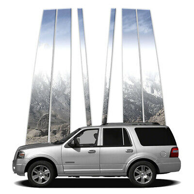 6pc Luxury FX Chrome Pillar Post Set for 1997-2014 Ford Expedition