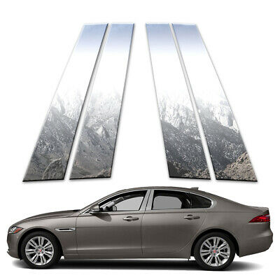 4p Stainless Pillar Post Covers fits 2016-2018 Jaguar XF by Brighter Design