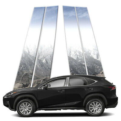 4p Stainless Pillar Post Covers fits 2015-2018 Lexus NX by Brighter Design