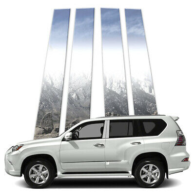4p Stainless Pillar Post Covers fits 2010-2018 Lexus GX by Brighter Design