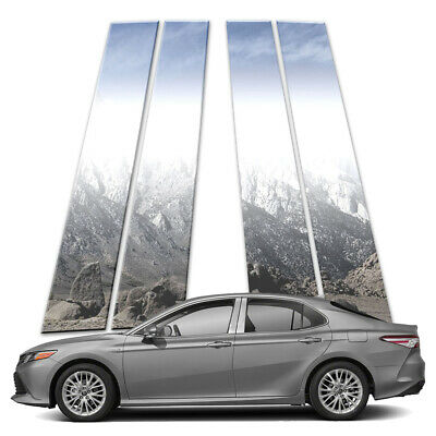 4p Stainless Pillar Post Covers fits 2018-2019 Toyota Camry by Brighter Design