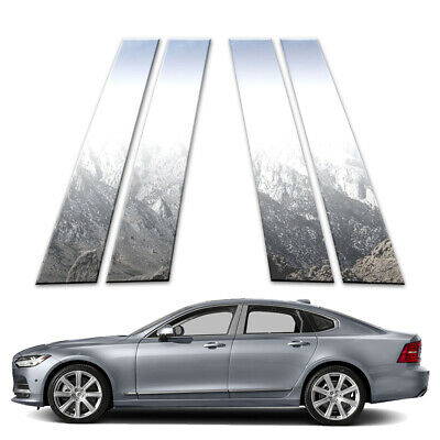 4p Stainless Pillar Post Covers fits 2017-2018 Volvo S90 by Brighter Design