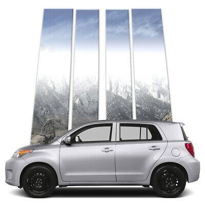 4p Stainless Pillar Post Covers fits 2008-2014 Scion xD by Brighter Design
