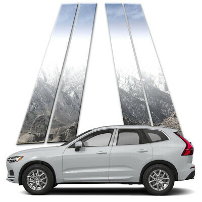 4p Stainless Pillar Post Covers fits 2017-2018 Volvo XC60 by Brighter Design