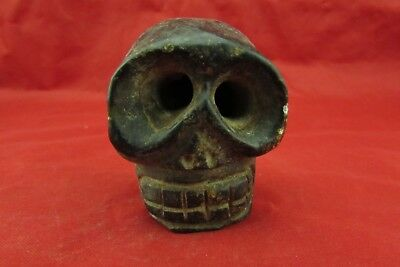 Chinese old jade hand-carved   Skull worth collecting C504