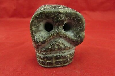 Chinese old jade hand-carved   Skull worth collecting C503