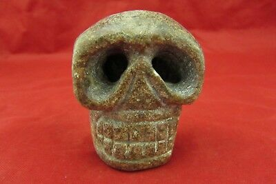 Chinese old jade hand-carved   Skull worth collecting C507