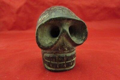 Chinese old jade hand-carved   Skull worth collecting C505