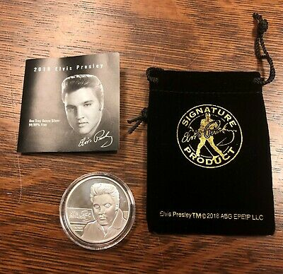 2018 Elvis Presley Proof 1oz. .9999 Fine Silver Troy Ounce Uncirculated Details