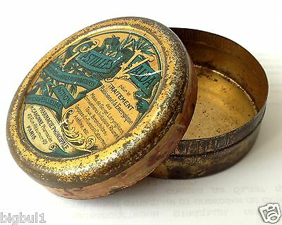 ANTIQUE VINTAGE PASTILLES VALDA PARIS MEDICAL Pharmacy Apothecary TABLET TIN BOX