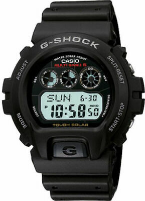 Casio G-Shock Men's Tough Solar Atomic Black Resin Band 50mm Watch GW6900-1
