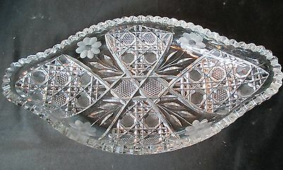 American Brilliant Large Low Bowl Floral Very Detailed Heavy