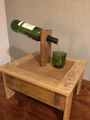 Wooden Rustic Wine Bottle Water Feature Lamp