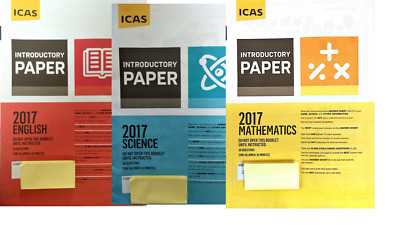 ICAS Year 2 Past Papers lot - Maths English Science Spelling