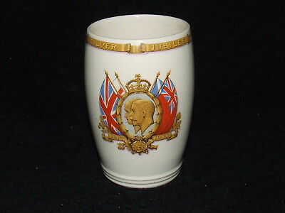 Solian Ware 1935 Kings George V & Queen Mary Silver Jubilee Beaker