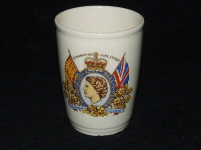 1953 Coranation June 2nd HM Queen Elizabeth 11 Beaker