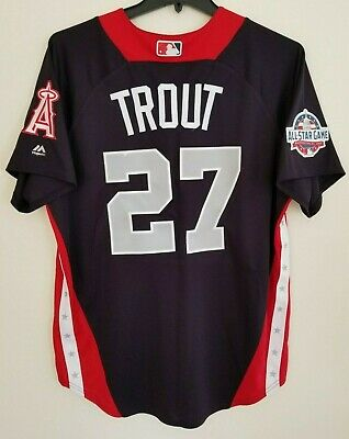 3e8cd6575 NWT Mike Trout Authentic American All-Star 2018 Majestic Men Jerseys Los  Angeles
