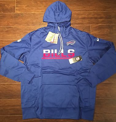low priced 1a128 6bfcb NEW NIKE BUFFALO Bills Sideline Circuit Pullover Dri-Fit Hoodie NFL Men's  Small