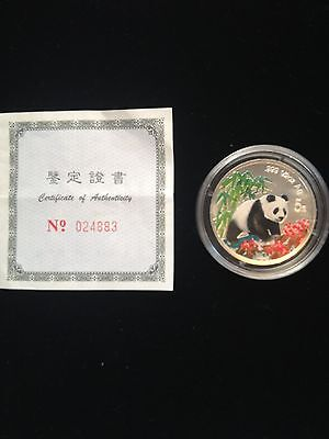 1997 Commemorative Coloured Silver Chinese Panda Proof