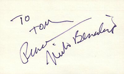 Movies Leonard Frey Actor 1976 Uja Telethon Tv Movie Autographed Signed Index Card Cards & Papers