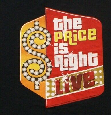 THE PRICE IS RIGHT LIVE  TV GAME SHOW T-SHIRT, Black, SIZE XL XLARGE