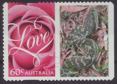2014 Australia Personalised Stamp Pink Rose Carpet Snake 60c Used