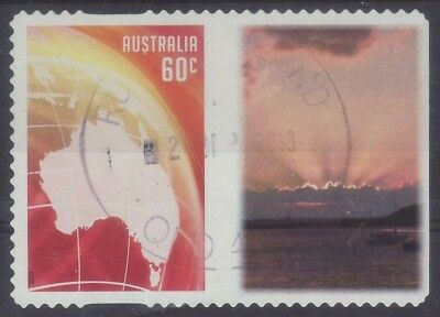 2013 Australia GR1 Personalised Stamp Red Globe Sunset Rays 60c Used