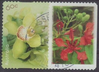 2013 Australia OR1 Personalised Stamp Green Orchid Red Flower 60c Used