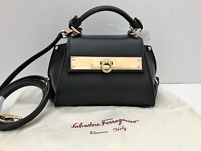 136bffa5d5d6f2 FERRAGAMO WHITNEY CALF leather tote bag shoulder (40126 - $719.83 ...