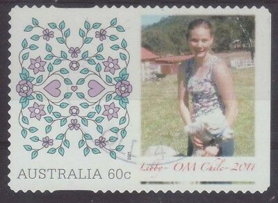 2011 Australia DL2 Personalised Stamp Love Design OM Chile 60c Used