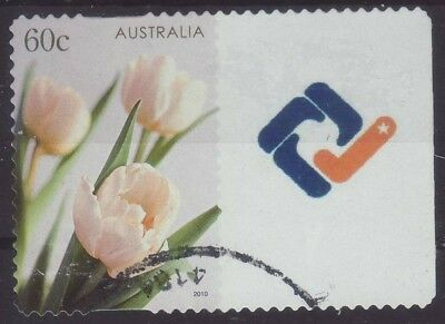 2010 Australia T4 Personalised Stamp Tulips Symbol 60c Used