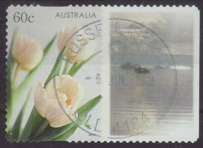 2010 Australia T2 Personalised Stamp Tulips Silver Sunrise 60c Used
