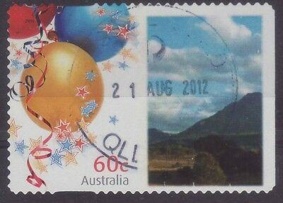 2010 Australia B1 Personalised Stamp Balloons Mountain View 60c Used