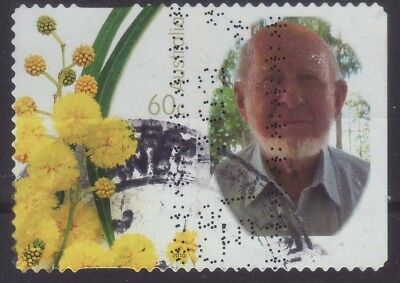 2010 Australia W6 Personalised Stamp Wattle Older Gentleman 60c Used
