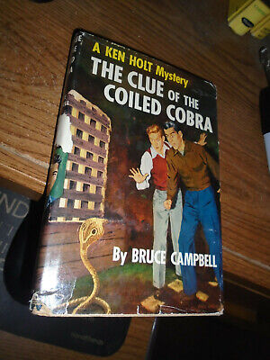 Ken Holt book with dust jacket-The Clue of the Coiled Cobra-#5