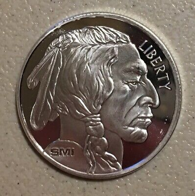 Indian Head/american Buffalo Silver Round - 1 Oz - .999 Silver  - Sunshine Mint