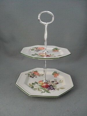 Johnson Brothers Fresh Fruit 2 tier cake stand.
